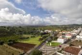 Pejzaż widok miejscowości Santa Catarina Fonte de Bispo — Zdjęcie stockowe