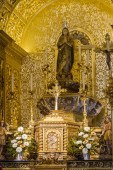 Beautiful interior of the church of Querenca, Portugal. — Stock Photo