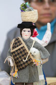 Beautiful handmade crafted folk dolls of Portuguese culture — Stock Photo