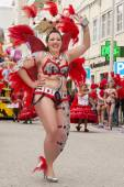Colorful Carnival (Carnaval) Parade — Stock Photo
