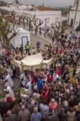 Tradiční náboženská procesí pochodní květina — Stock fotografie