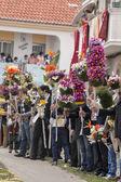 Tradicional procesión de las antorchas de la flor — Foto de Stock