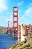 χρυσή πύλη γέφυρα σαν φρανσίσκο — Φωτογραφία Αρχείου