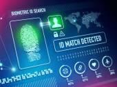 Biometrics Security Technology — Stock Photo