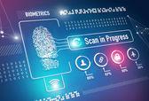 Biometrics Fingerprint Scan — Stock Photo