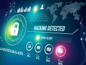 Online Security and Hacking Alert — Stock Photo
