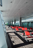Seats in airport — Stock Photo