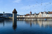 Chapel-bridge in Lucerne — Stock Photo
