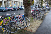 Colorful bicycles — Stock Photo