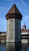 Chapel-bridge in Lucerne — Foto Stock