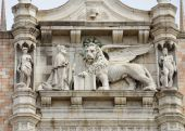 Detail of Doges palace — Stock Photo