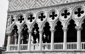 Columns of Doges palace — Stock Photo