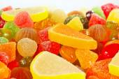 Colorful fruity candies and jujube closeup — Stock Photo