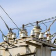 Overhead contact wires — Stock Photo #73171477