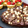 Постер, плакат: Chocolate brownie with hazelnuts