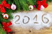 Decoration composition with 2016 date — Stock Photo
