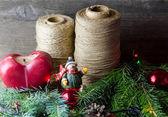 Christmas decoration composition — Stock Photo