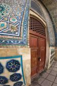 Exteriér mauzoleum Khoja Ahmed Yasavi v Turkestánu, Kazachstán. — Stock fotografie