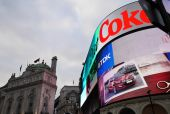 Piccadilly Circus, London, England — Stock Photo
