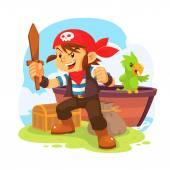 Garçon pirate. — Vecteur