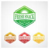 Fresh Snack Badge — Stock Vector