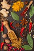 Still life with spices and herbs — Foto de Stock