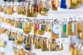 Forever love lockers. — Stock Photo