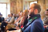 Entrepreneur in audience at business conference. — Stock Photo