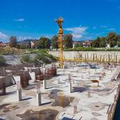 Construction site. Building foundation. — Stock Photo