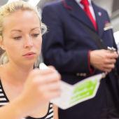 Train ticket check. — Stock Photo
