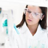 Young chemist in the laboratory. — Stock Photo