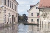 Flooded street — Stock Photo