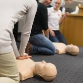First aid CPR seminar. — Stock Photo