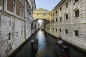 Puente de los suspiros, venecia, italia. — Foto de Stock