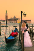 Just married in Venice, Italy. — Stock Photo