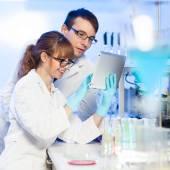 Gezondheidswerkers in lab. — Stockfoto