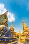 Pagodas of Wat Pho temple in Bangkok, Thailand — Stock Photo