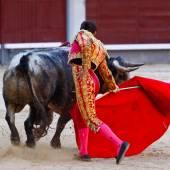 Traditional corrida - bullfighting in spain — Stock Photo