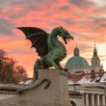 Dragon bridge, Ljubljana, Slovenia, Europe. — Stock Photo #67408565
