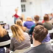 Woman lecturing at university. — Stock Photo
