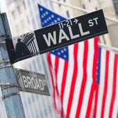 Wall street, New York, USA. — Stockfoto