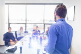 Business presentation on corporate meeting. — Stock Photo