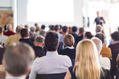 Audience in the lecture hall. — Stock Photo