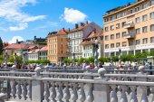 Romantic medieval Ljubljana, Slovenia, Europe. — Stock Photo