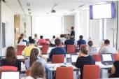 Informatik-Workshop an der Universität. — Stockfoto