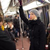 Woman on subway. — Stock Photo