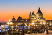Venice in sunset. — Stock Photo