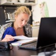Female freelancer working from home. — Stock Photo #79795046