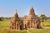 Temples of Bagan, Burma, Myanmar, Asia. — Stock Photo