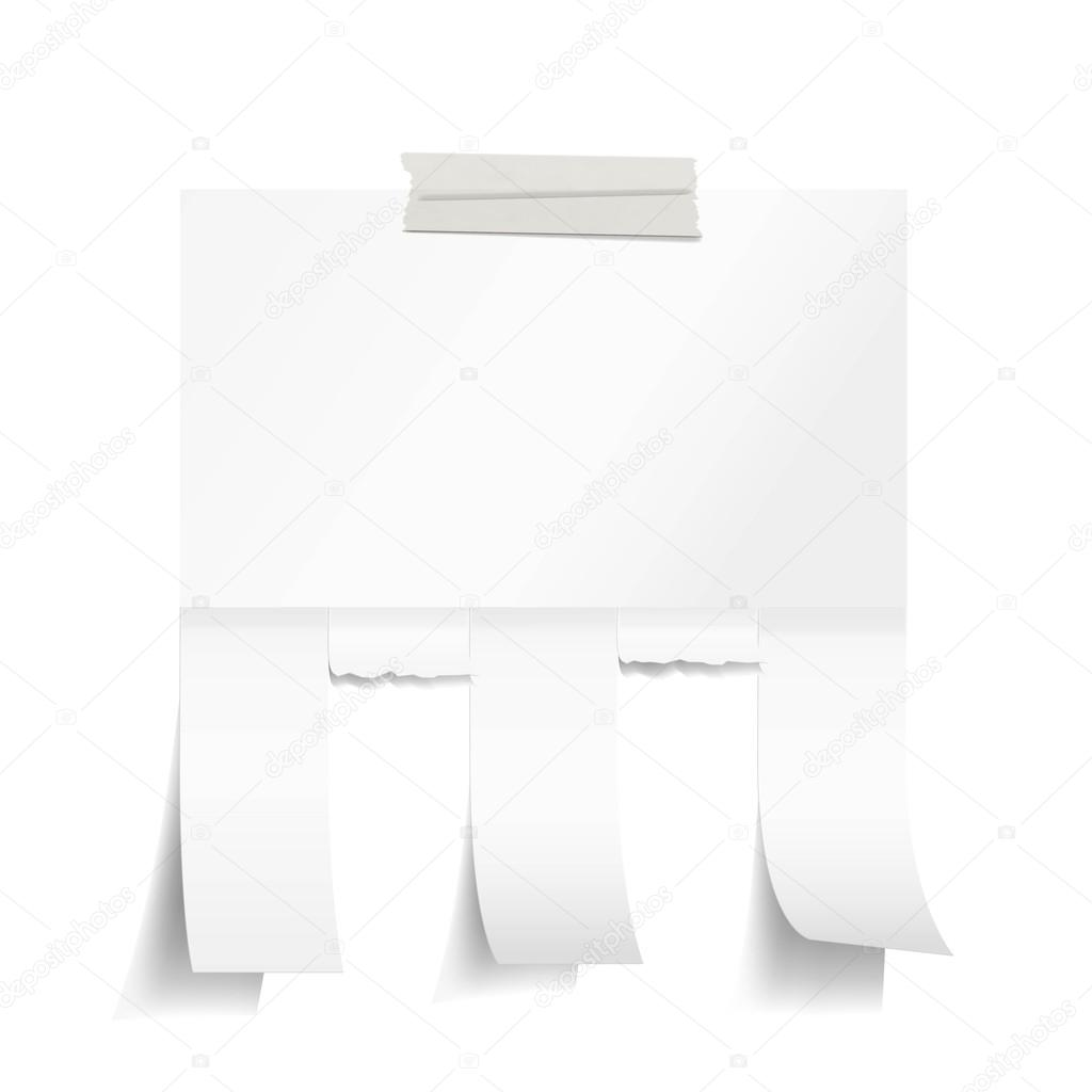 Blank white paper with tear off tabs Vector Yuichiro – Tear off Tabs